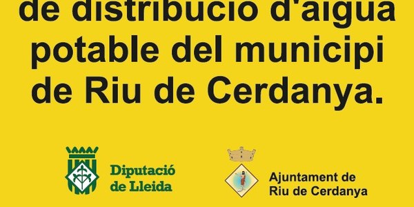 Millora de la xarxa de distribució d'aigua potable del municipi de Riu de Cerdanya